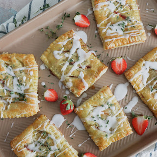 Strawberry, Thyme, and Goat Cheese Hand Pies.