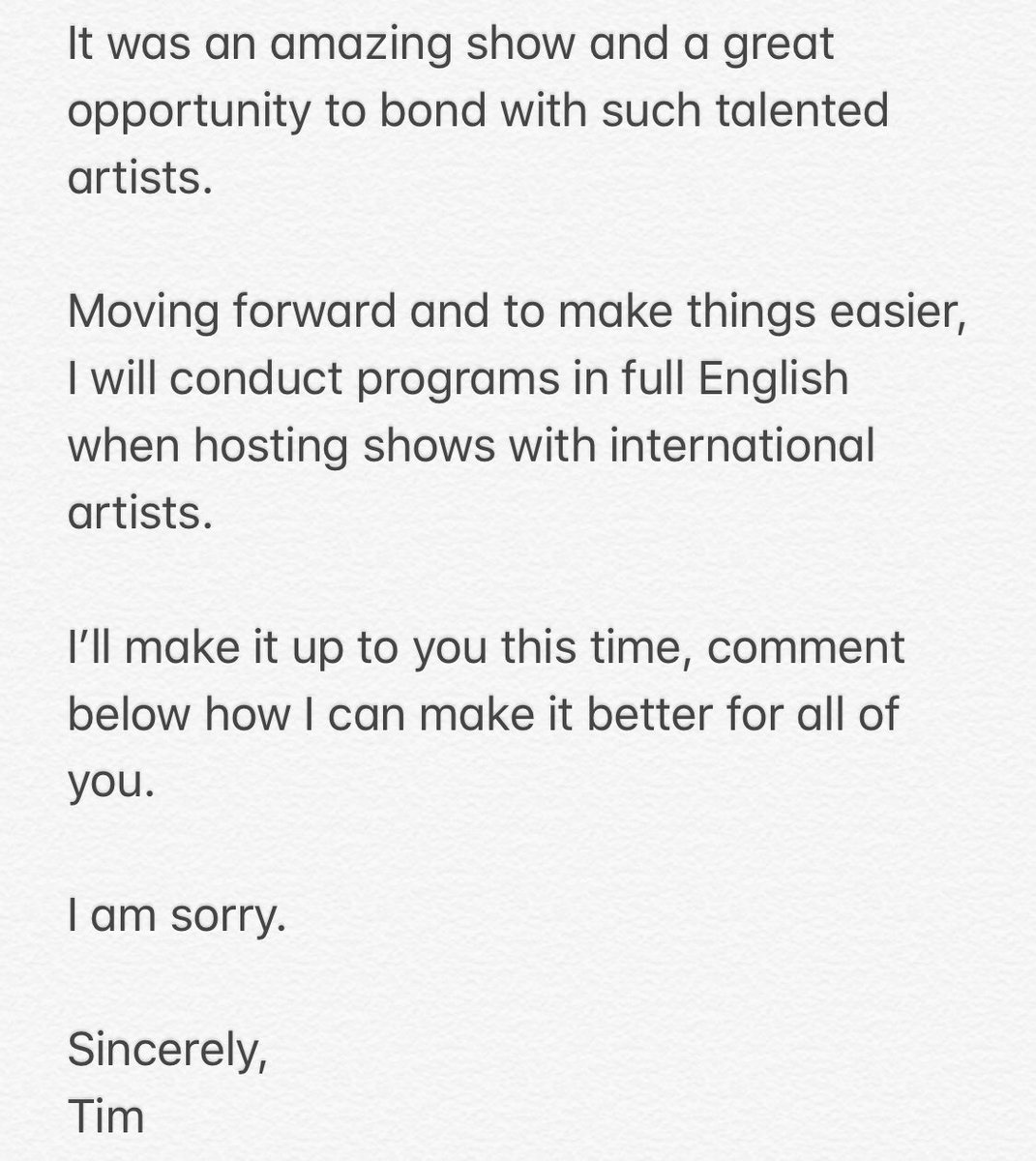 momoland tim yap apology 2