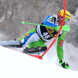 Štefan Hadalin in action by Igor Martinšek - Sports & Fitness Snow Sports ( fis world cup, vitranc, slovenia, kranjska gora, racing, stefan hadalin, slalom )