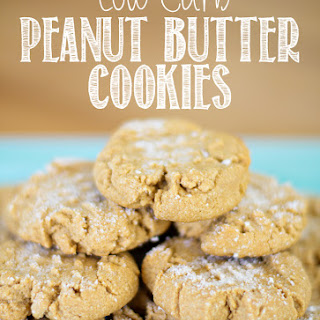 Low Carb Peanut Butter Cookies with Options Recipe