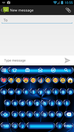 Spheres Blue Emoji Keyboard