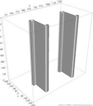Photo: Wärmestromdichtenfläche (Isofläche) Fläche gleicher Wärmestromdichten im Bereich von Wärmebrücken