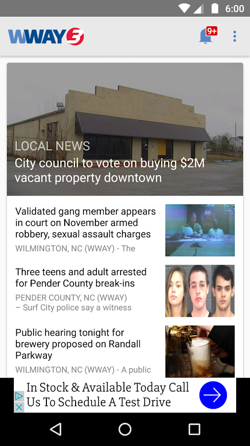 WWAY NEWS- screenshot