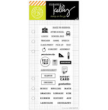 Hero Arts Kelly Purkey Clear Stamps 2.5X6 - School Planner UTGÅENDE