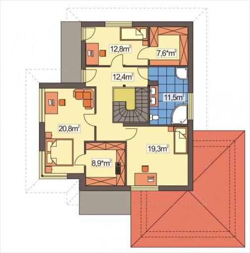 Aleksandra Modern wersja A - Rzut piętra