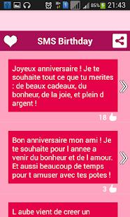 anniversaire sms