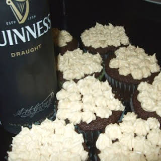 Guinness Cupcakes with Baileys Buttercream.