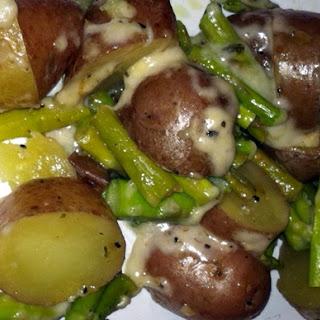 Parmesan, Asparagus and Potato Bake