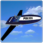 Flying Police Boat Simulator