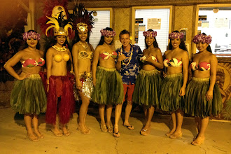 Photo: Brock with the luau ladies http://ow.ly/caYpY