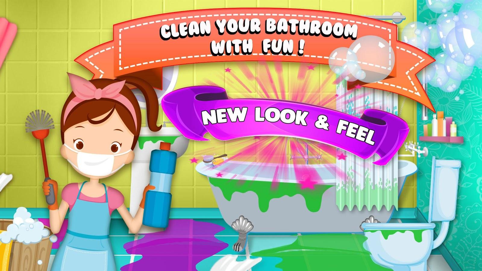 Clean up bathroom games - Bathroom Clean Up Screenshot