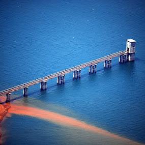 In Water Or Sky by Aparajita Saha - Buildings & Architecture Bridges & Suspended Structures ( water, blue, bridge, aqua, azure, suspended )
