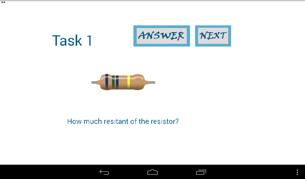Resistor Quiz- screenshot