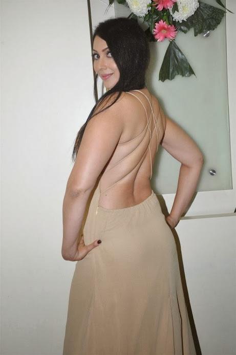 Kalpana Pandit backless dress