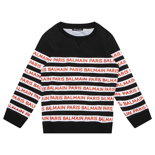 Primary image of Balmain Striped Cotton Sweatshirt