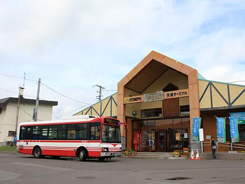 宗谷バス「天北宗谷岬線」 ・744 音威子府駅にて_01