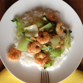 Stir-fried Pak Choi with Shrimps