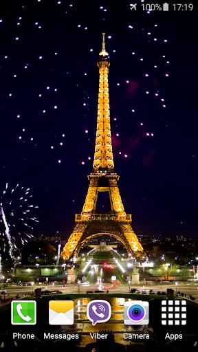 パリの花火 ビデオライブ壁紙