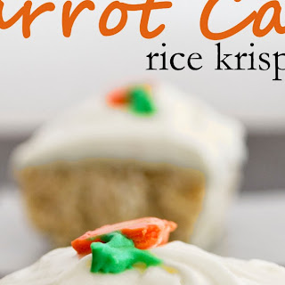 Carrot Cake Rice Krispy Treats