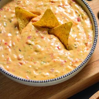 Spicy Queso Hummus Dip