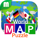World Map Puzzle 168 Countries icon