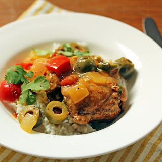 Spanish Chicken With Saffron And Green Olives.