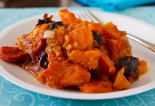 Spiced Sweet Potato Tzimmes
