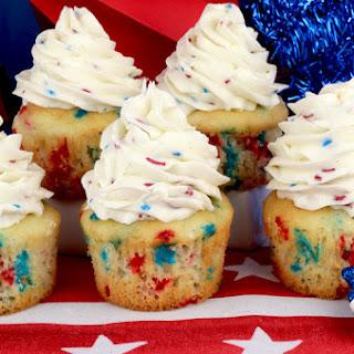 Patriotic Cupcakes with Ice Cream Buttercream Frosting Recipe