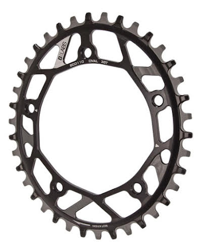 B-Labs Oval 110BCD Cross Chainring