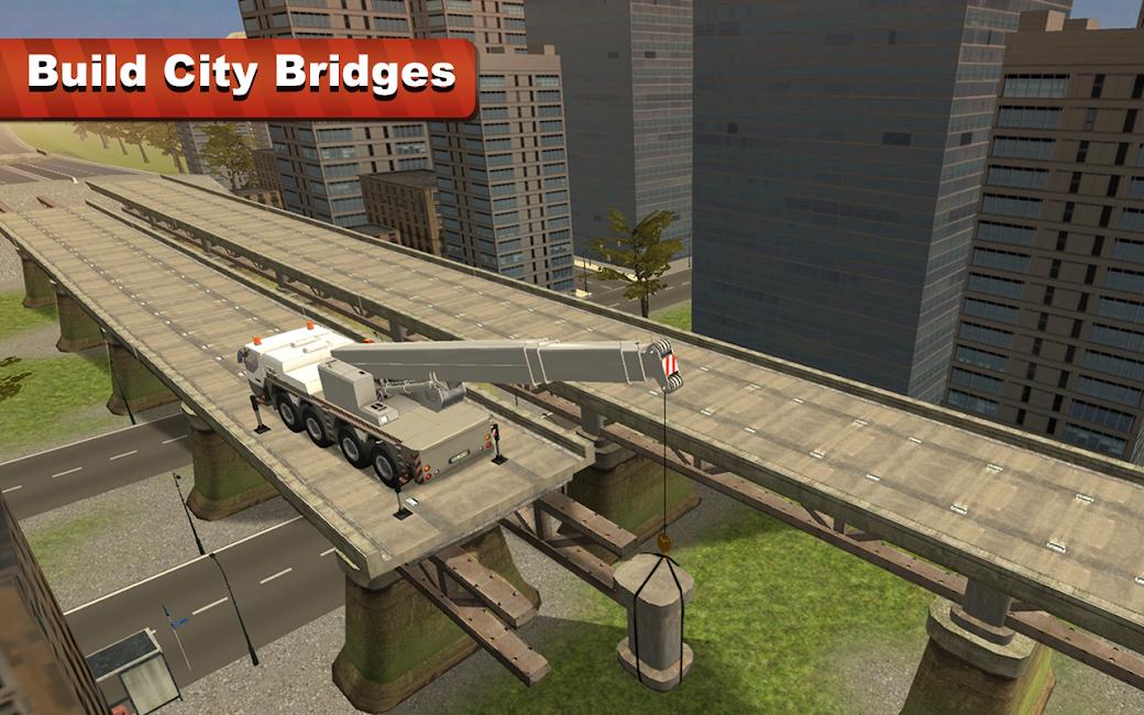 #12. Bridge Construction Crane Sim (Android)