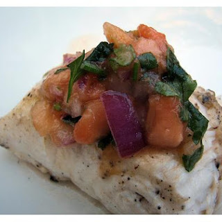 Grilled Halibut.