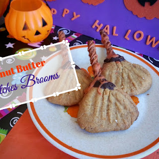 Peanut Butter Witches Brooms