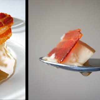 Maple And Bacon Creme Caramel With Vanilla Candied Bacon.