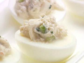 Devilled Eggs with Crab