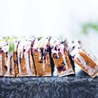 Huckleberry Lemon Verbena Tea Cake with Vanilla Bean Glaze {Gluten-Free}.