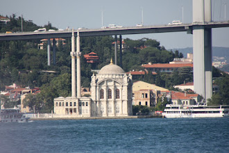 Photo: Day 104 - Ortakoy Mosque at the Foot of the Bosphorus Bridge