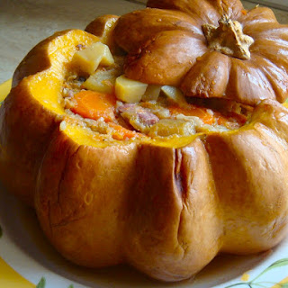 Meat Stuffed Pumpkin.
