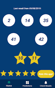 Euromillons Predictor - náhled