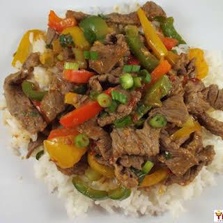 Hot Hunan Beef.