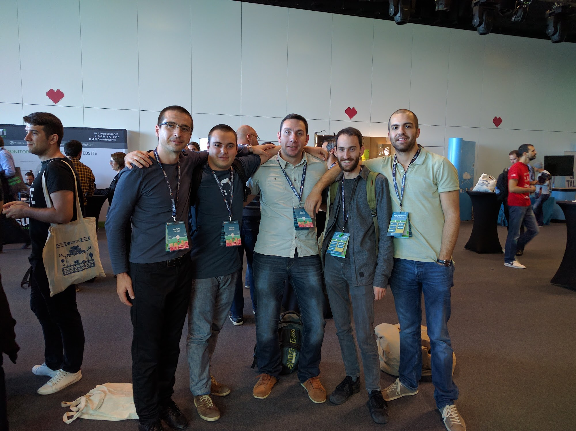 Clippings dev team at the conference