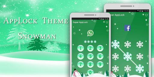 Applock Theme Snowman