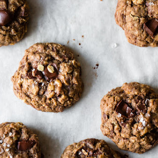 Gluten-Free Oatmeal Teff Chocolate Chip Cookies & Cookie Mix Gift in a Jar.