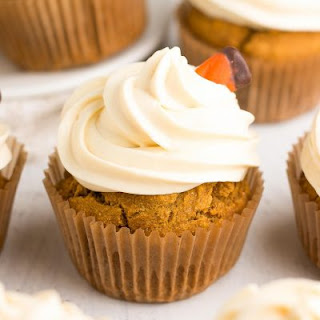 Healthy Pumpkin Cupcakes with Cream Cheese Frosting Recipe