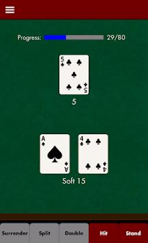 Blackjack Strategy Trainer apk screenshot