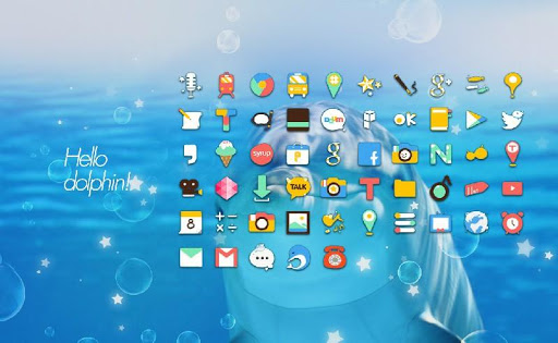 Hello Dolphin launcher theme