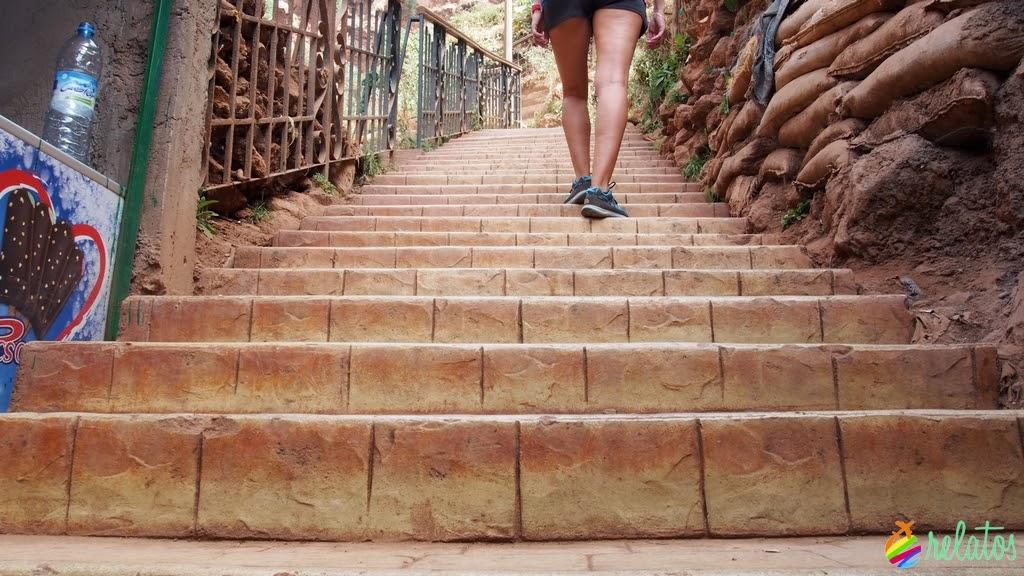 Escaleras parque
