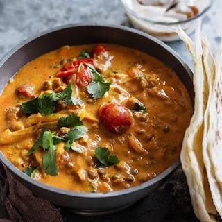Dhal Curry With Chutney Yoghurt.