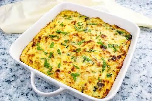 "Cheesy Pasta and Veggie Frittata""My family loves spaghetti but I always make..."