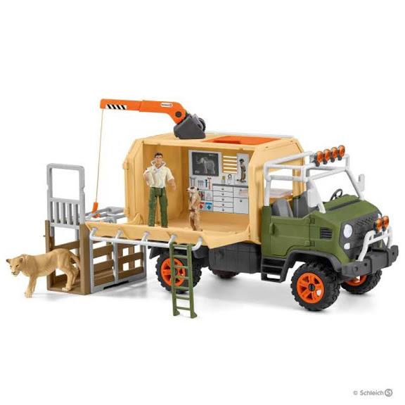 Contenido de Schleich® 42475 Camión de Salvamento de Animales Grande