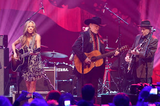 "Photo: AUSTIN, TX - APRIL 20:  Musicians Sheryl Crow (L) and Willie Nelson perform during the ""We Walk The Line: A Celebration Of The Music Of Johnny Cash"" show at ACL Live on April 20, 2012 in Austin, Texas.  (Photo by Gary Miller/FilmMagic)"